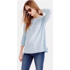 J. Crew blue deck striped t- shirt size xxs